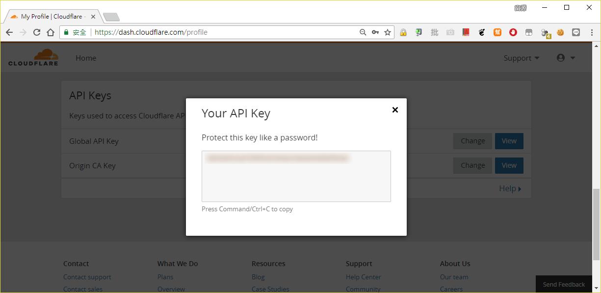 Cloudflare API Key